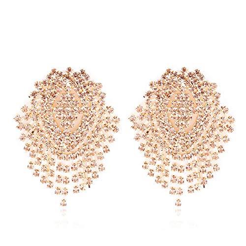 ale Kristall lange Tassels Dangle Ohrringe Sekt Rhinestone Damen Geschenke (Champagner) ()