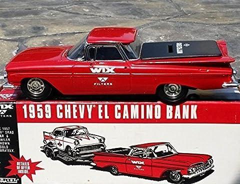Ertl WIX FILTERS 1959 CHEVY EL CAMINO Car Bank in Diecast Metal - 1:25 Scale by Ertl