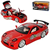 alles-meine.de GmbH Mazda RX7 Dom´s Dominik Toretto Rot 1991-2002 Fast & Furious 8 The Fast and The Furious 1/24 Jada Modell Auto
