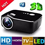 Vivibright LED 1080p Projector for Home cinema Mini Portable Projector full HD 3D HDMI VGA USB TV SD LED Projector 800x600 Pixels (SVGA)