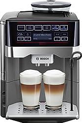 Bosch tes60523rw-Espressomaschine (freistehend, vollautomatisch, Machine, Kaffeebohnen, gemahlener Kaffee, schwarz, grau, 50/60Hz)