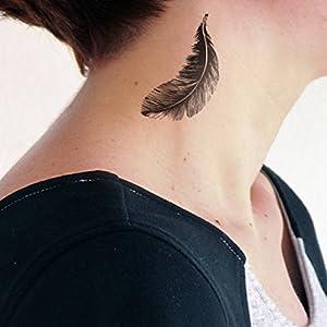 Feder - 2 Temporäres Tattoo