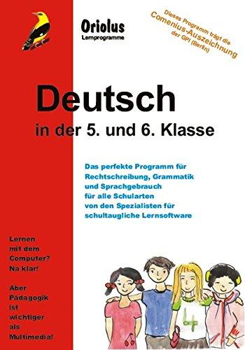 Deutsch in der 5. und 6. Klasse - Schullizenz für PC 5 Jahre, updatefähig: Lernprogramm - mit Schwerpunkt Grammatik und Rechtschreibung für alle Schularten für Windows 7-10ff, macOS und Netzwerk