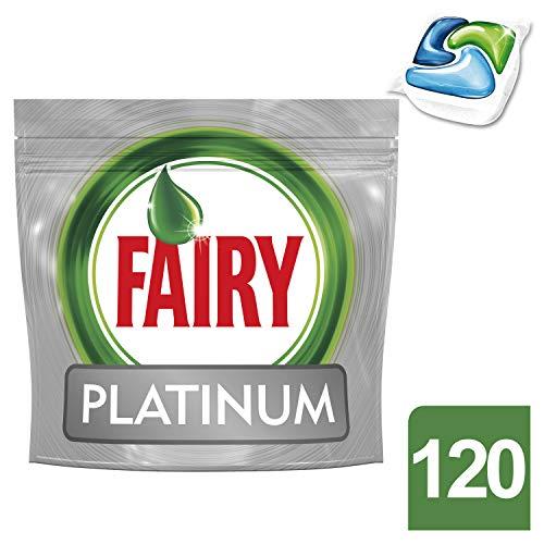Fairy platinum detersivo in caps per lavastoviglie, confezione da 120 pastiglie
