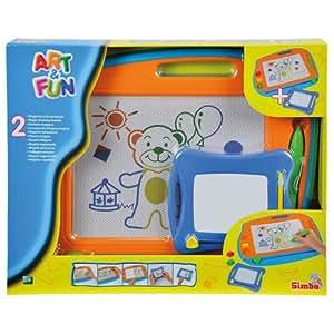 Simba 106332216 - Art & Fun 2 Maltafeln 40 x 29 cm und 16 x 13 cm