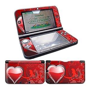 Nintendo 3DS XL Skin Design Foils Aufkleber Schutzfolie Set – Heart Motiv