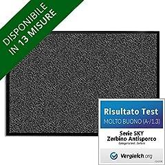 Idea Regalo - Zerbino Ingresso Esterno - Interno, Tappeto Asciugapassi - Tappeto Entrata Casa, Antiscivolo - Antracite - 60x90 cm