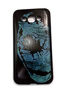 For SAMSUNG GALAXY E7 Ruberised Back Case Cover Matte Finish MAD OVER COVERS BATMAN FACE Print Design with FREE CLEAR SCREEN GUARD