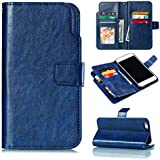 IPhone 6 Plus IPhone 6s Plus Case, Danallc Luxury PU Leather Wallet Flip Protective Shell Case Cover With Card Slots And Stand For IPhone 6 Plus IPhone 6s Plus Blue