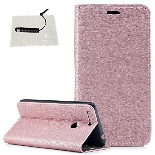 Schutzhülle für Oukitel U20 Plus Hülle,TOCASO Design Rosegold Ultradünn Metall Case Schutzhülle für Oukitel U20 Plus Handyhülle Transparent Tasche-Einfarbig Rosa