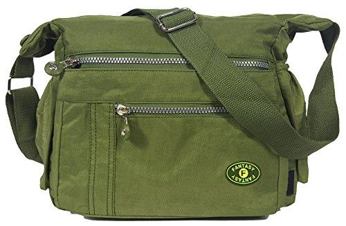 GFM Nylon Dusche/Regen beständig Kreuz Körper Tasche für Urlaub oder den täglichen Casual Gebrauch. Gr. Small, Style 1 - Olive Green (JTN) (Oliven Dusche)