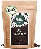 Cocoa Nibs non torrefatto (Bio, 250g) - 100% qualità biologica - sacchetti richiudibili - pennini cacao greggio - confezionato e controllato in Germania (DE-ÖKO-005)