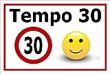 Melis Folienwerkstatt Schild - Tempo 30-60x40cm | Bohrlöcher | 3mm Aluverbund - S00040-043-B - 20 Varianten