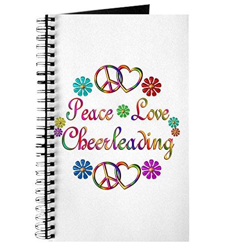 CafePress–Peace Love Cheerleading–Spiralbindung Journal Notebook, persönliches Tagebuch, Dot Grid (Cheerleader Gedruckt)