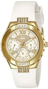 Guess - W0327L1 - Montre Femme - Quartz Analogique - Cadran Blanc - Bracelet Caoutchouc Blanc