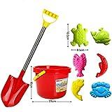 Siyushop Sand-Gruben-Sand-Form, Strand-Spielzeug-Wasser-Spielset im Freien, Ziehen Auto mit 3 Form für Kinder 3 4 5 6 Jahre Alt