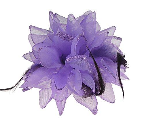 Haar Blume Fascinator Haar Krawatte Clip Lila ()