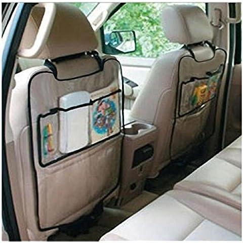 Ularma Car Auto Sedile Posteriore Della Copertura Della Protezione Per I Bambini Kick Mat Mud Clean+ Custodia Auto (NERO)