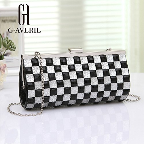 G-AVERIL, Borsa a mano uomo GOlden black Silvery black