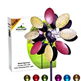 Solar Wind Spinner Tricolour Blades 75 inches (1.9m) Tall | Multi-Colour LED