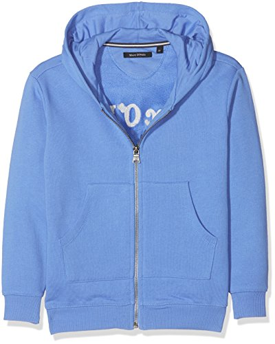 Marc O'Polo Kids Jungen Strickjacke Sweatjacke 1/1 Arm mit Kapuze, Blau (Ultramarine 3078), 128