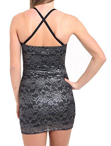 Sunshine Umbrella Fashion - Robe - Bustier - Femme noir noir Noir