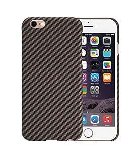 iPhone 6 / iPhone 6s Hülle mit Schutzfolie - schwarz / rosegold 4.7 Zoll Schutzhülle ultra dünn 0.65 mm Handyhülle aus PITAKA Aramid Fibre