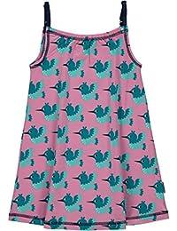 MAXOMORRA Mädchen Kleid Rosa Kolibris Vögel BioBaumwolle GOTS