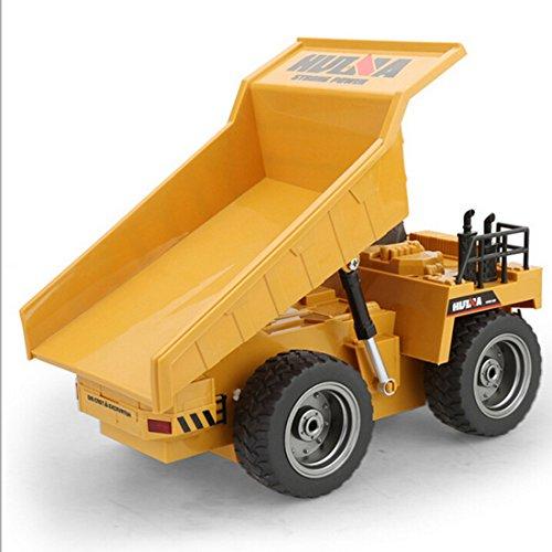 RC Auto kaufen Baufahrzeug Bild 4: LoKauf 1:18 6CH Dumper Kipper mit Fernbedienung RC Bagger Metall Ferngesteuert für Kinder*