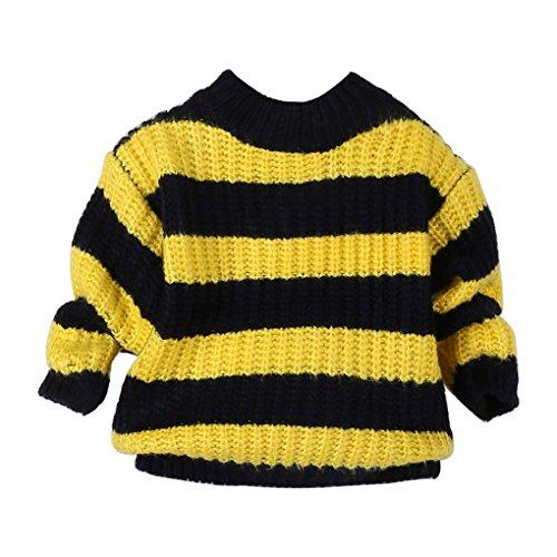 Babykleidung❀❀ JYJMKleinkind Kinder Baby Mädchen Strickpullover Pullover Crochet Bluse Tops Kleidung (Größe: 2-3 Jahr, (Ideen Up Dress Sport)