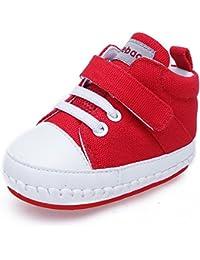 free shipping 7270b b24d3 DELEBAO Zapatos Bebe Niña Zapatillas Lona Bebe Bambas Bebe Niño con Suela  Antideslizante Calzado Primeros Pasos