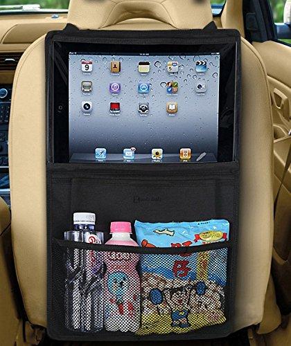 Zento Deals schwarz iPad Halterung und KFZ Sitz Artikel Organizer Car Seat Travel Bag Wheels