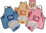 Set di cappello da chef e grembiule Junior Chef, per bambini, per cucinare ed infornare Rosa