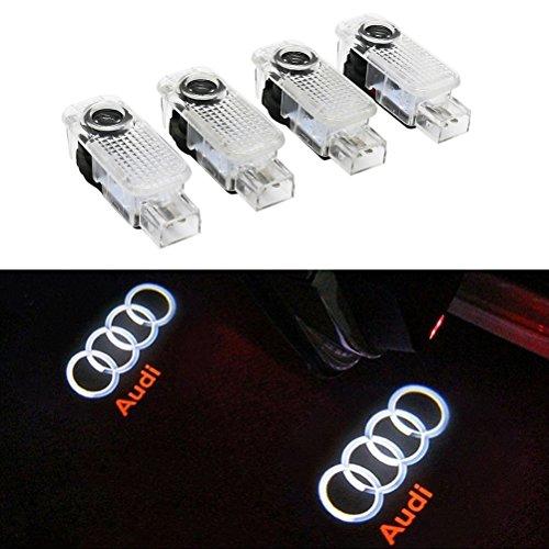 Inlink 4 Stück Einstiegsbeleuchtung Tür Licht Logo Projektor Autotür Logo Projektion