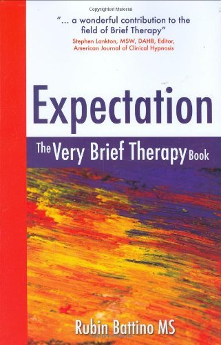 Expectation: The Very Brief Therapy Book (English Edition) PDF Books