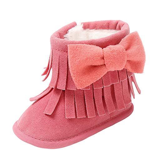 (Sonnena Kleiner Bär Schuhe Kleinkind Niedlich Schneeschuhe Boots Kinderschuhe Baby Mädchen Warm Winterschuhe Schuhe Jungen Lauflernschuhe Weiche Sohle Babyschuhe Krabbelschuhe (0-6M, Wein@))