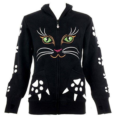 Sudadera con capucha de gato de Banned (Negro) - M