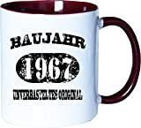 Mister Merchandise Becher Tasse Baujahr 1967 unverbasteltes Original Kaffee Kaffeetasse liebevoll Bedruckt Jahrgang Orig