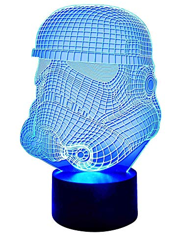Originelle 3D LED-Lampe Stormtrooper