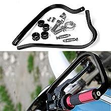 Triclick Protèges mains 7/8 22mm Moto Universel Handguards Protecteur Noir