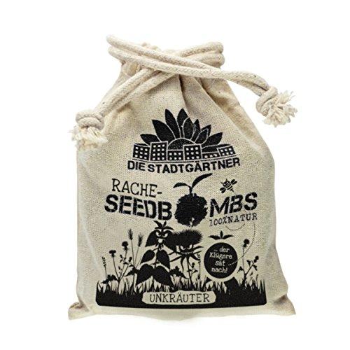 """Rachebombs """"Unkraut"""" ✿ Samenbomben mit Unkraut-Samen (Brennnessel, Rotklee, Löwenzahn, ...) ✿ """"Der Klügere sät nach"""""""