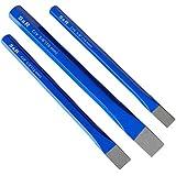 S&R Cinceles albañil - Juego de 3 Cinceles de Albañil 16 x 170 mm, 12 x 150 mm, 10 x 140 mm de cromo vanadio