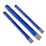 S&R Cinceles albañi l- juego de 3 cinceles de albañil 16 x 170 mm, 12 x 150 mm, 10 x 140 mm de cromo vanadio