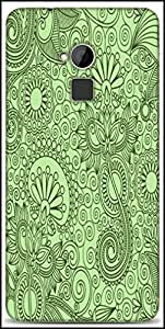 Snoogg Fabric Pattern Light Green Designer Protective Back Case Cover For HTC One-Max