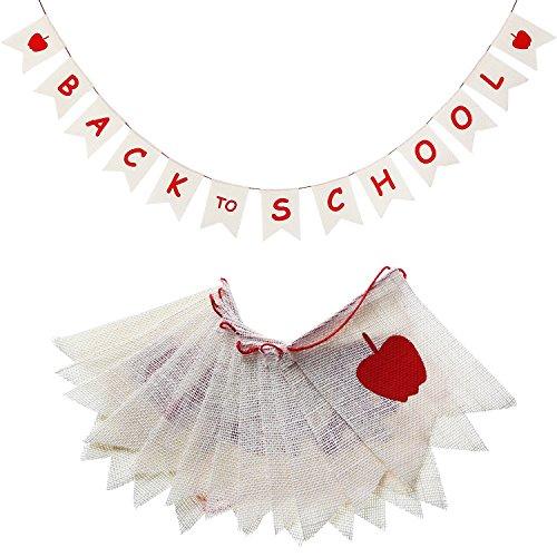 nner Jute Girlande Wimpelkette Banner für den ersten Schultag, Klassenzimmer-Dekoration, Willkommen Party, Homecoming Day ()