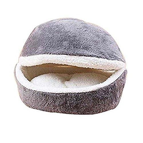 Hamburger / Burger Design Haustierbett Shell Katze Schlafsack (Grau)