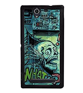 Wall Graffiti 2D Hard Polycarbonate Designer Back Case Cover for Sony Xperia C4 Dual :: Sony Xperia C4 Dual E5333 E5343 E5363