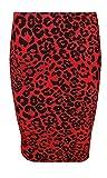 GUBA® Damen Rock Gr. 48, rotes Leopardenmuster
