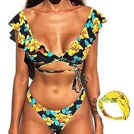 LYworld Donna Bikini 2019 Sexy Costumi da Bagno Costume Bikini Set Push-Up Swimwear Reggiseno Imbottito Tankini Beachwear Due Pezzi Costumi da Bagno