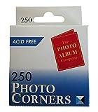 The Photo Album Company Dispenser Box with 250 Photograph Photo Corner - Clear by The Photo Album Company